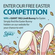 Win a giant 1kg Lindt Bunny by Online Spas.