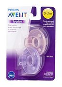 Philips 2 Pack AVENT Soothie Pacifier, Pink/Purple, 0-3 Months