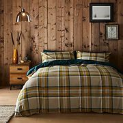 Brushed Cotton Reversible Duvet Cover and Pillowcase Set