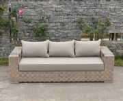 Cardinal Taupe and Brown Wicker 3 Seater Garden Sofa