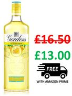 Gordon's Sicilian Lemon Distilled Gin, 70cl