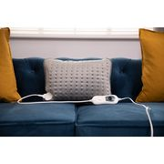 Heated Pillow - 40 X 30cm, Grey - £9.99 Delivered