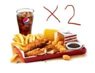 2 X KFC BONELESS BANQUET BOX MEAL via KFC App