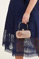 Rose Gold Embellished Sparkle Party Bag