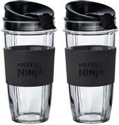 *SAVE £5* Two Large 650ml Nutri Ninja Cups with Two Sip & Seal Lids