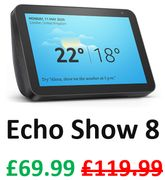 £50 OFF! Echo Show 8 (ALL COLOURS)