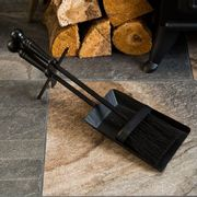 Hearth Shovel & Brush Set Black Fireside Fireplace Accessory Tools