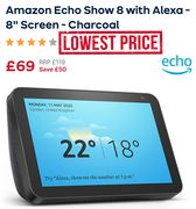 Cheaper than Amazon! Echo Show 8 with Alexa - SAVE £50.99