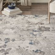 KATHY IRELAND  Grey Royal Terrance Patterned Rug 220x160cm