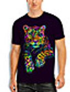 Men's T Shirt 3D Print Graphic 3D Animal Print Short Sleeve Casual Tops