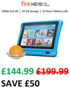 £50 OFF - Fire HD 10 Kids Edition Tablet - BLUE or PINK