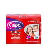 Calpol SixPlus Sugar Free Strawberry Paracetamol Sachets