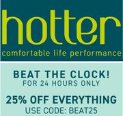 Hotter Shoes - 25% off Everything Today