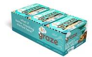 Graze Lightly Sea Salted Crunch - Vegan Savoury Healthy Snack Punnet X 9