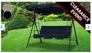 3-Seater Garden Swing Chair - 2 Colours