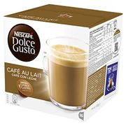 Nescafe Dolce Gusto Cafe Au Lait Coffee Pods, 16 Capsules