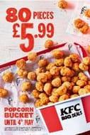 Popcorn Bucket - 80 Pieces for £5.99 via App (Walk-in/Drive-thru Only)