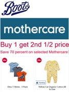 BOOTS MOTHERCARE KIDS CLOTHES - Buy 1 Get 2nd 1/2 Price / & 70% OFF