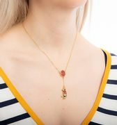 SAVE £10.60 Gold Plated Disney Winnie the Pooh Balloon Necklace