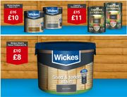 WICKES - Garden Wood Care Offers - Decking Stain, Fence & Shed Paint Etc