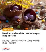 Free Easter Chocolate Treat worth up to £1.50 When You Shop at Tesco