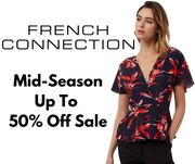 French Connection Mid-Season Sale - Up to 50% off Men's & Women's Fashion