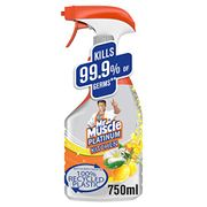 1/2 Price - Mr Muscle Platinum Antibacterial Kitchen Spray Citrus 750 Ml