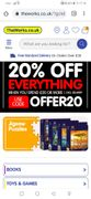 20% off Everything When You Spend £20