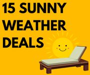 15 Sunny Weather Deals from £4.99 Inc. Sun Loungers, Paddling Pools & Sun Cream