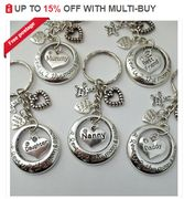 I LOVE YOU TO THE MOON AND BACK Family Charm Keyring + Bag