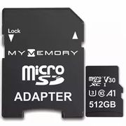 MyMemory 512GB V30 PRO Micro SD Card U3 + Adapter £48.96 at MyMemory