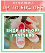 Up to 50% off Trainers