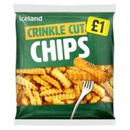 Iceland Crinkle Cut/ Thin & Crispy French Fries/ Steak Cut Chips 1.25kg
