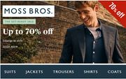 MOSS BROS Menswear SALE - up to 70% Off