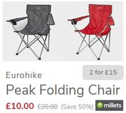 Eurohike Camping Chair | Only £10 EACH | TWO FOR £15