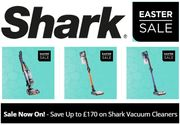 SHARK EASTER SALE - save up to £170 on Shark Vacuum Cleaners