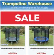 Trampoline Warehouse SALE + Free Delivery