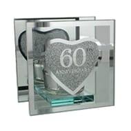 Glass Tealight Holder - 60th Anniversary