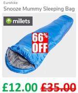 Eurohike Snooze Mummy Sleeping Bag