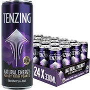 TENZING Natural Energy Drink, +BCAA, BlackBerry & Acai, 330ml (Pack of 24)
