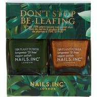 CHEAP! NAILS INC Two Pack Plant Power Green & Gold Tone Nail Polish