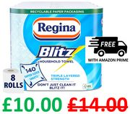 8 Regina Blitz Kitchen Towel Rolls