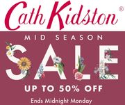 Flash Sale! Cath Kidston Up to 50% off - Ends Midnight Tonight!