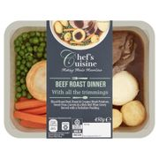 Chef's Cuisine Roast Beef/ Chicken Roast Dinner with Yorkshire Pudding 450g