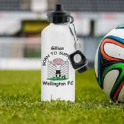 Cheap Personalised Football Drinks Bottle at Giveapersonalisedgift
