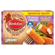 Birds Eye 10 Chicken Fingers with Golden Wholegrain 250g