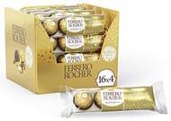 Ferrero Rocher Chocolate , 16 Pack of 4, 64 Chocolates