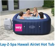 Lay-Z-Spa Hawaii AirJet Hot Tub for 4-6 Adults - PRE-ORDER OPEN AT VERY
