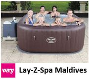 Lay-Z-Spa Maldives HydroJet Pro Hot Tub for 5-7 Adults | PRE-ORDER OPEN NOW!