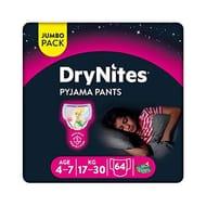 Huggies DryNites, Girl's Pyjama Pants, 4-7 Years (64 Pants)